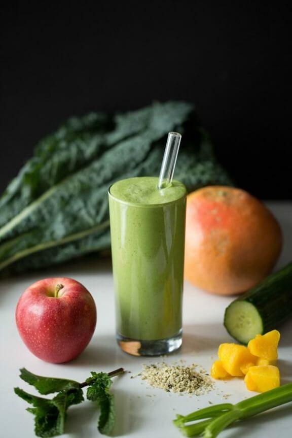 Green Warrior Protein Smoothie   ohsheglows.com