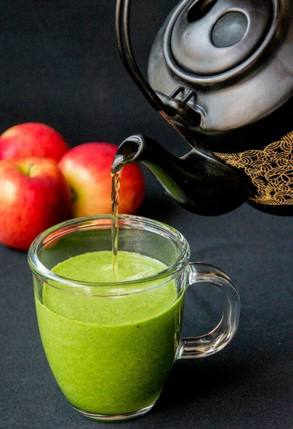 Hot Green Smoothie | kitchensanctuary.com