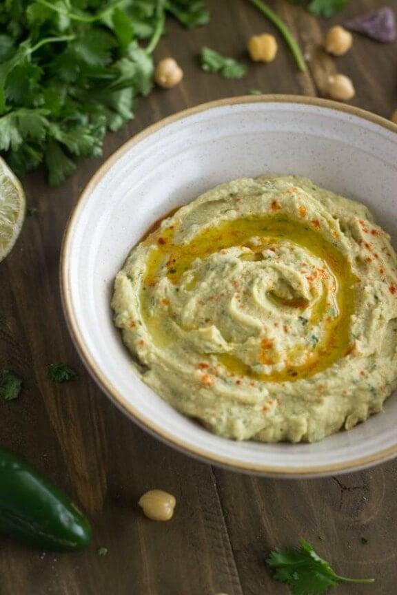 Jalapeno Lime Hummus | foodfaithfitness.com