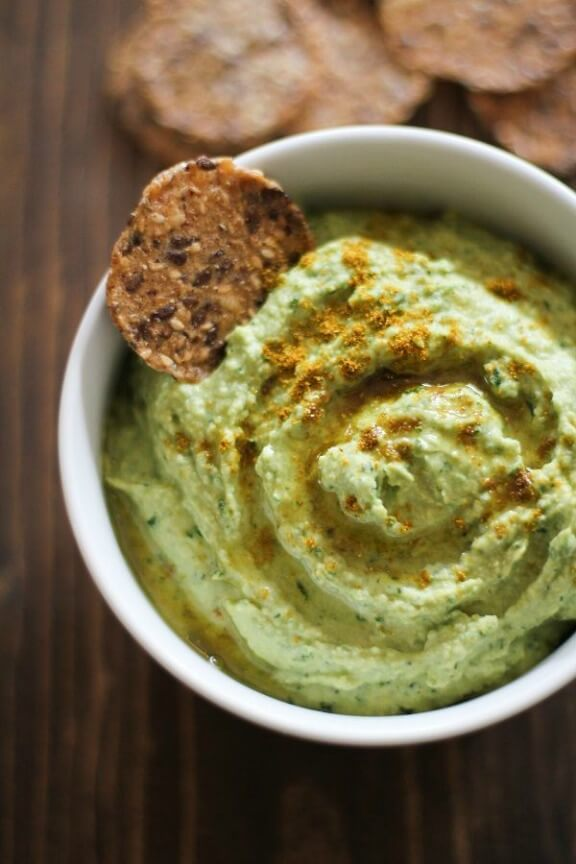 Roasted Garlic Kale Hummus | theroastedroot.net