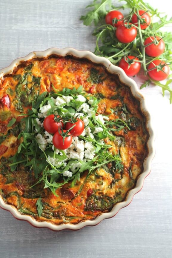 feta salad roasted potato and spinach frittata with feta sweet potato ...