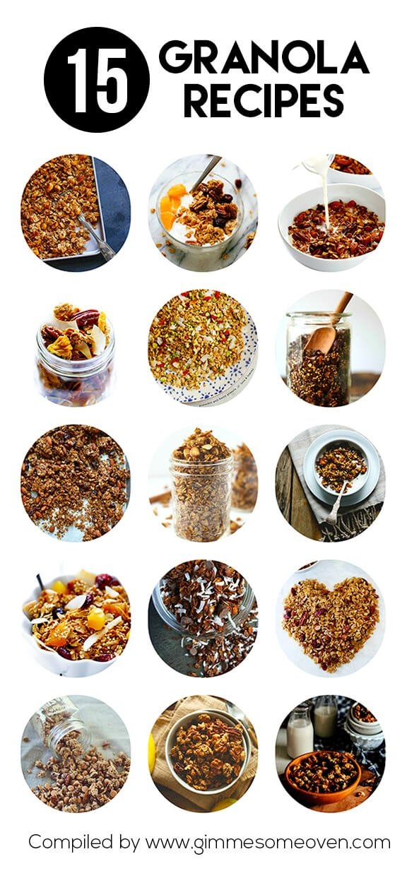 15 Granola Recipes | gimmesomeoven.com