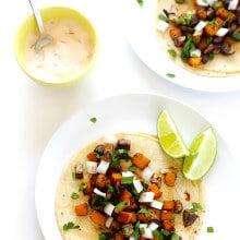 Butternut Squash and Mushroom Tacos Recipe   gimmesomeoven.com