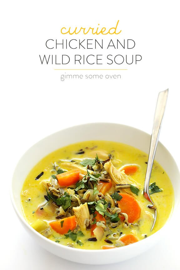 Curried Chicken and Wild Rice Soup | gimmesomeoven.com #glutenfree