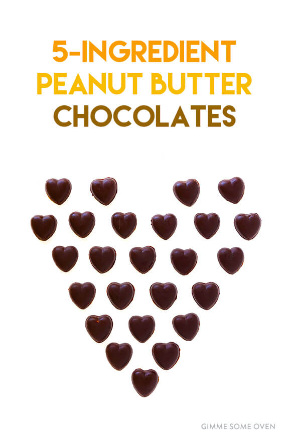 Easy Peanut Butter Chocolates -- made with 5 simple ingredients, and naturally sweetened with honey | gimmesomeoven.com