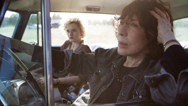 Lily Tomlin and Julia Garner in Paul Weitz's Grandma. Photo by Aaron Epstein.