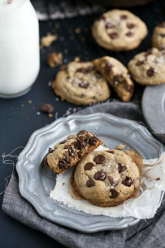 Best Ever Healthy Chocolate Chip Cookies | chelseasmessyapron.com