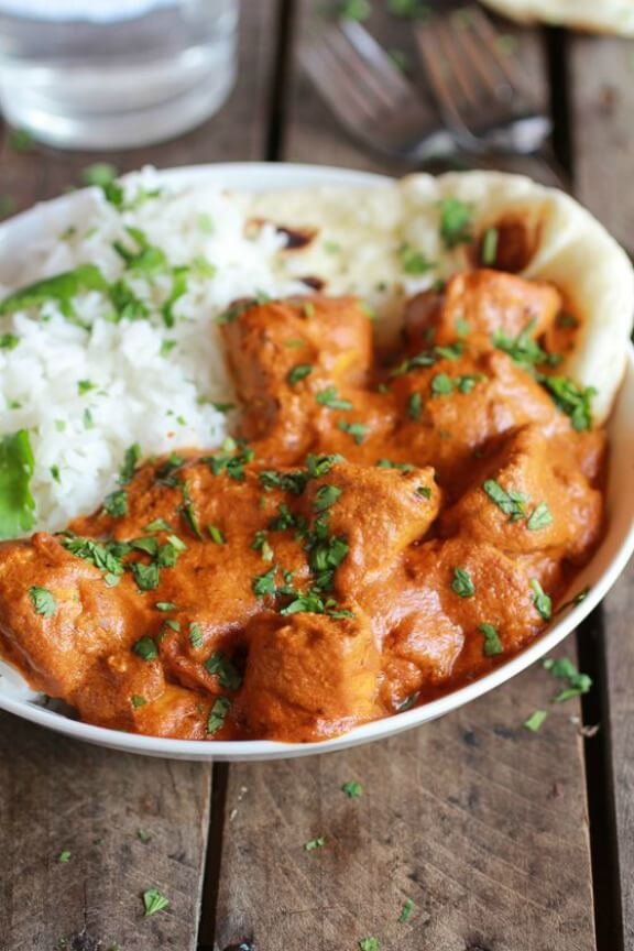 Easier Healthier Crockpot Butter Chicken | halfbakedharvest.com