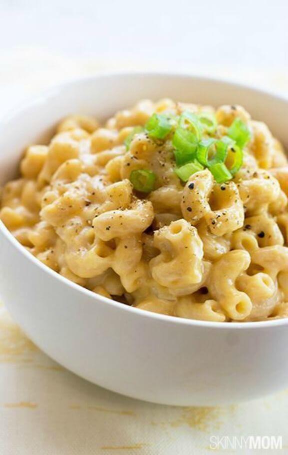 Healthy Stovetop Mac and Cheese | skinnymom.com