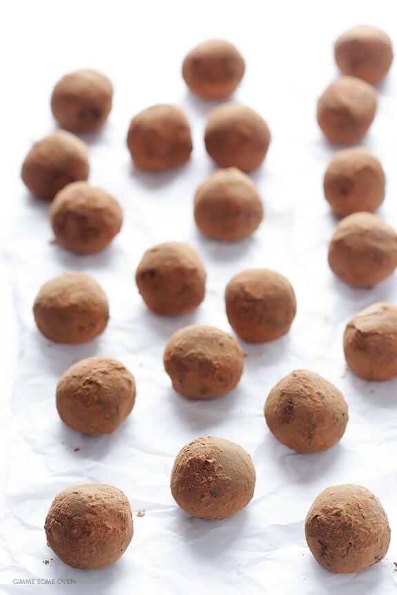 5-Ingredient Whiskey Chocolate Truffles   gimmesomeoven.com
