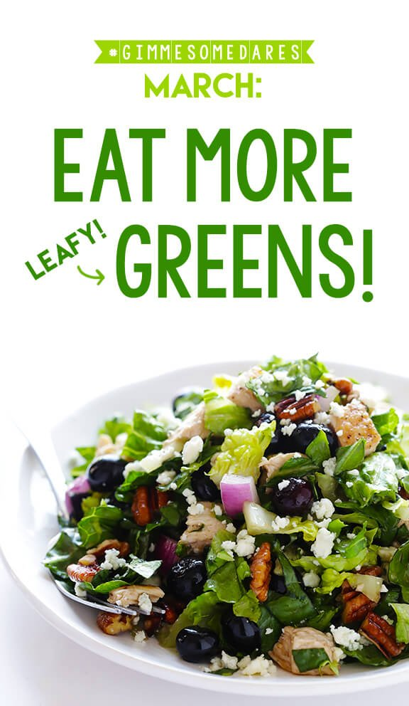 March Dare: Eat More (Leafy) Greens | gimmesomeoven.com