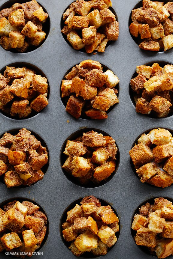 French Toast Cups Recipe | gimmesomeoven.com