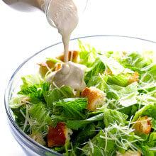 Healthier Caesar Salad | gimmesomeoven.com