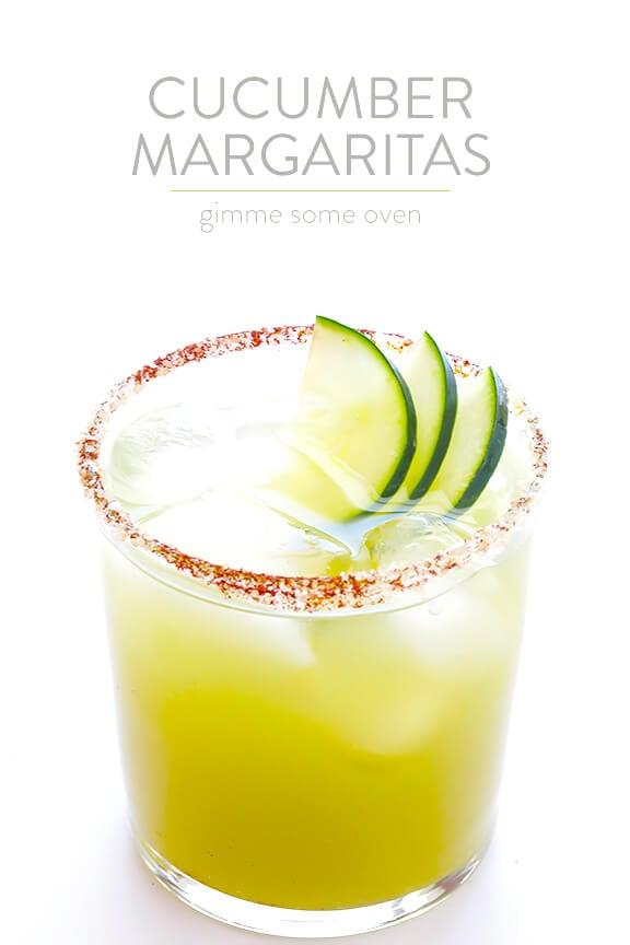 Spicy Cucumber Margaritas | gimmesomeoven.com