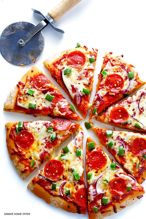 Whole Wheat Pizza Dough Recipe   gimmesomeoven.com