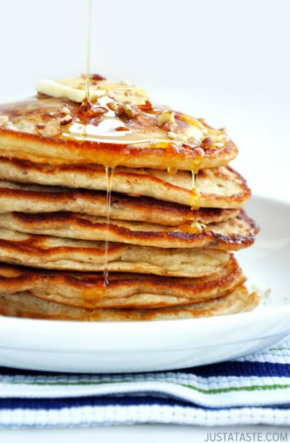 Banana Nut Pancakes | justataste.com