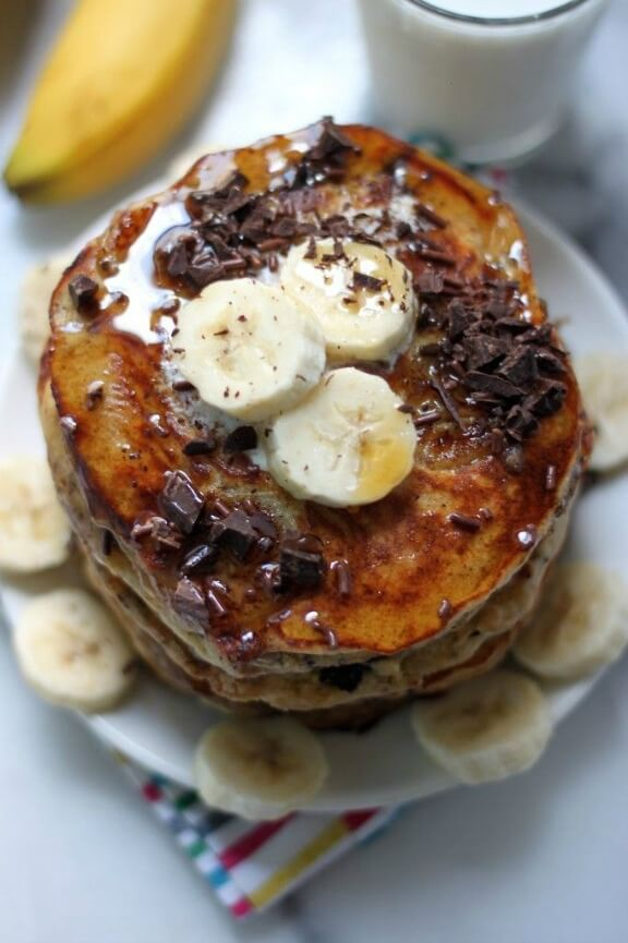 Best Ever Banana Oat Pancakes | bakerbynature.com