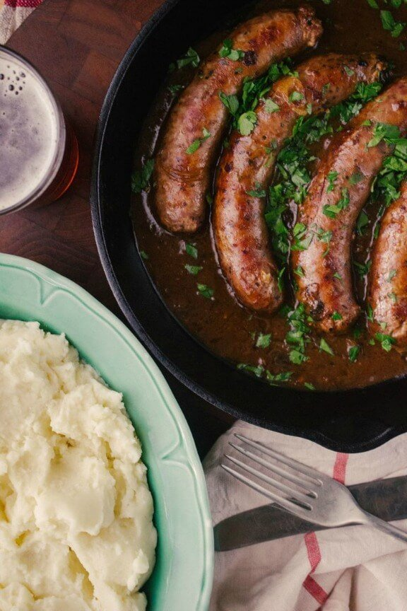 Bangers and Mash with Beer and Onion Gravy | simpleprovisions.com.au