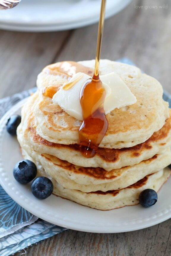 Buttermilk Pancakes | lovegrowswild.com