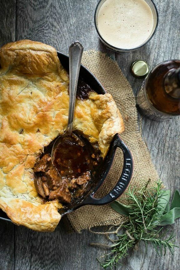 Steak and Ale Pie | foodnessgracious.com