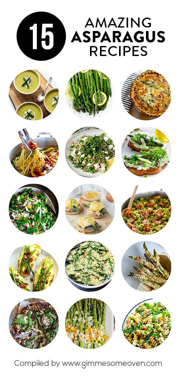 15 Asparagus Recipes | gimmesomeoven.com