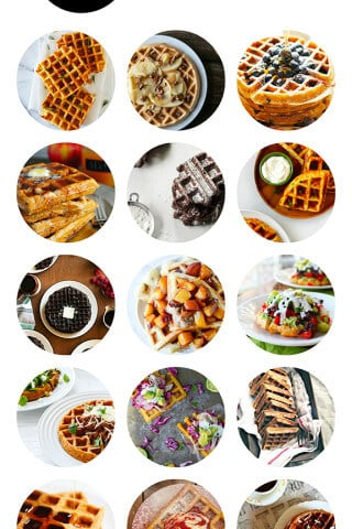 15 Waffle Recipes -- a delicious collection of sweet and savory waffles from food bloggers | gimmesomeoven.com