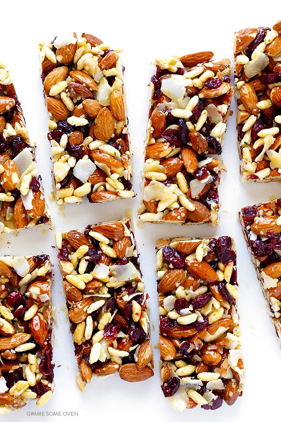 healthy snack bars cranberry almond protein bars gimme some oven 28477