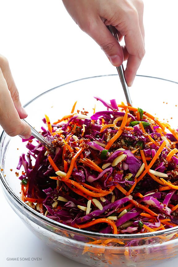 Easy Asian Quinoa Slaw | Gimme Some Oven
