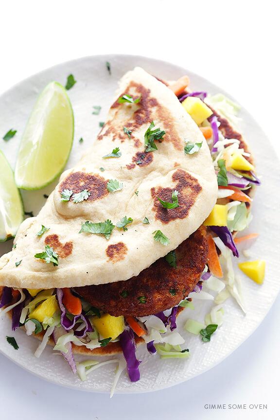 Easy Indian Veggie Naan Wrap   gimmesomeoven.com