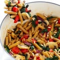 Pasta with Mushrooms, Tomatoes, & Spinach | gimmesomeoven.com