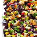 Rainbow Fish Taco Nachos | gimmesomeoven.com