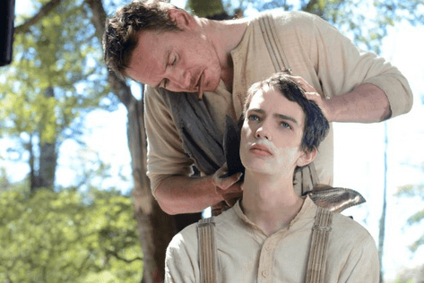 Michael Fassbender and Kodi Smit-McPhee in John Maclean's Slow West.