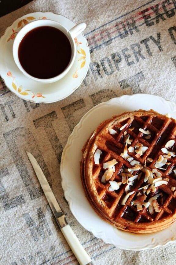 Coconut Waffles | pastryaffair.com