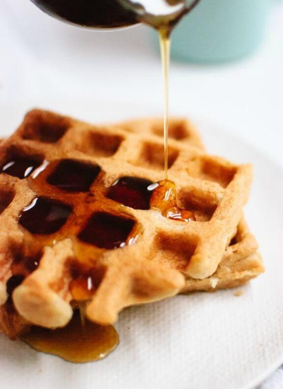 Easy Gluten Free Oat Waffles | cookieandkate.com