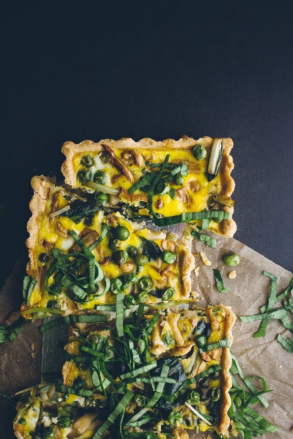 Loaded Vegetable Spring Quiche | vegetarianventures.com