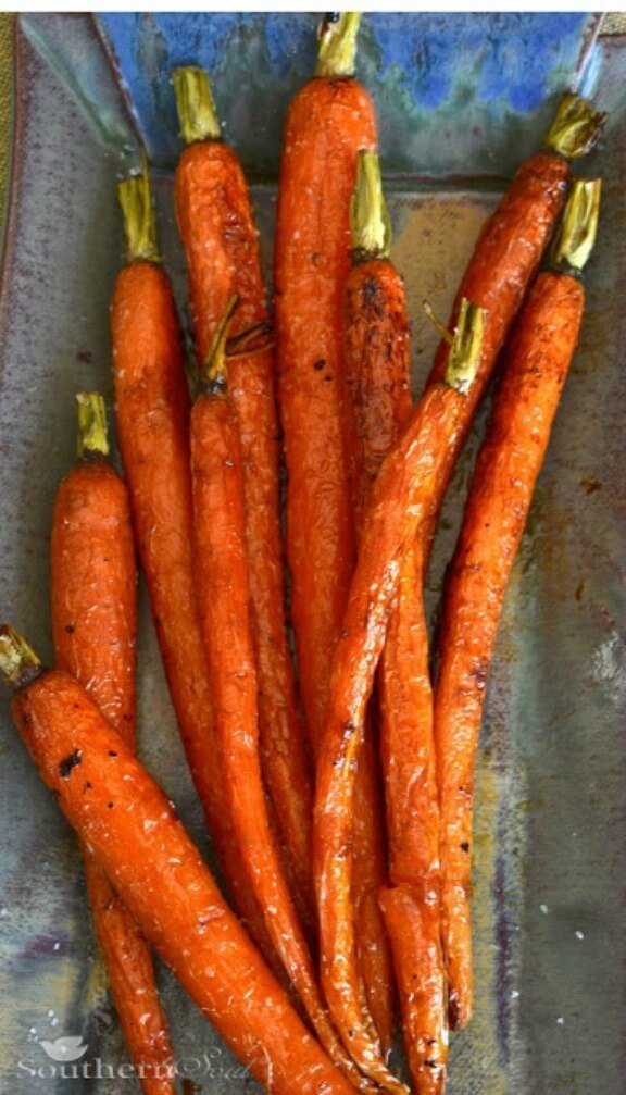 Roasted Carrots with Honey & Lemon | southern-soul.blogspot.com