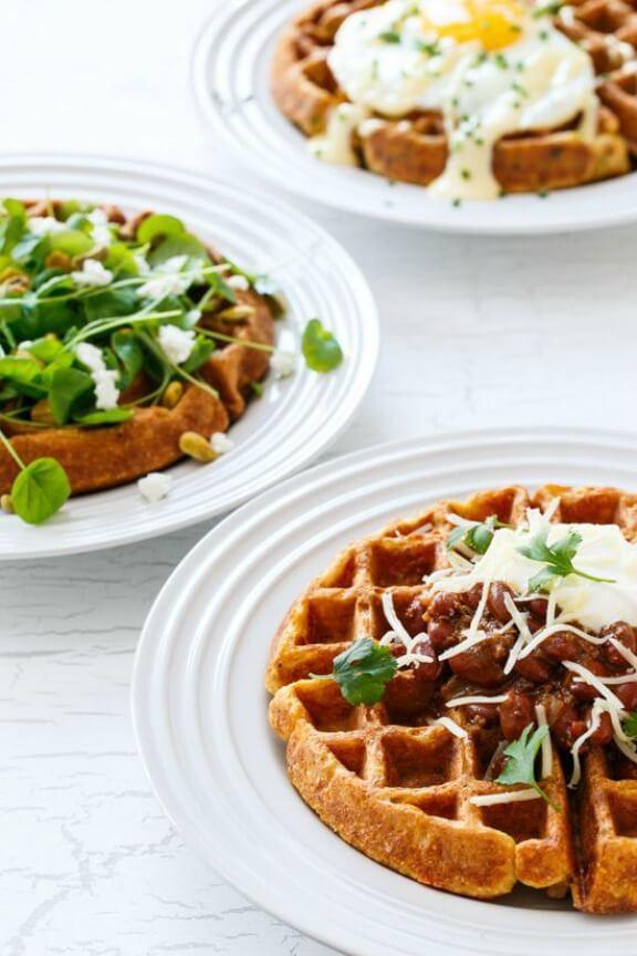 Savory Cornbread Waffles | loveandoliveoil.com