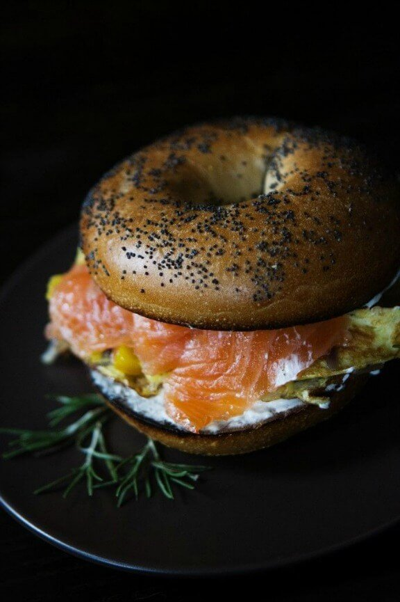 Smoked Salmon and Egg Breakfast Sandwich | athoughtforfood.net