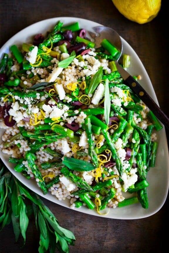 Spring Asparagus Salad | feastingathome.com