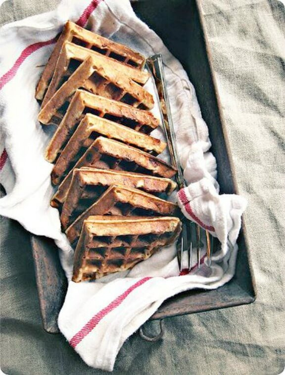 Banana Bread Yeasted Waffles | sevenspoons.net