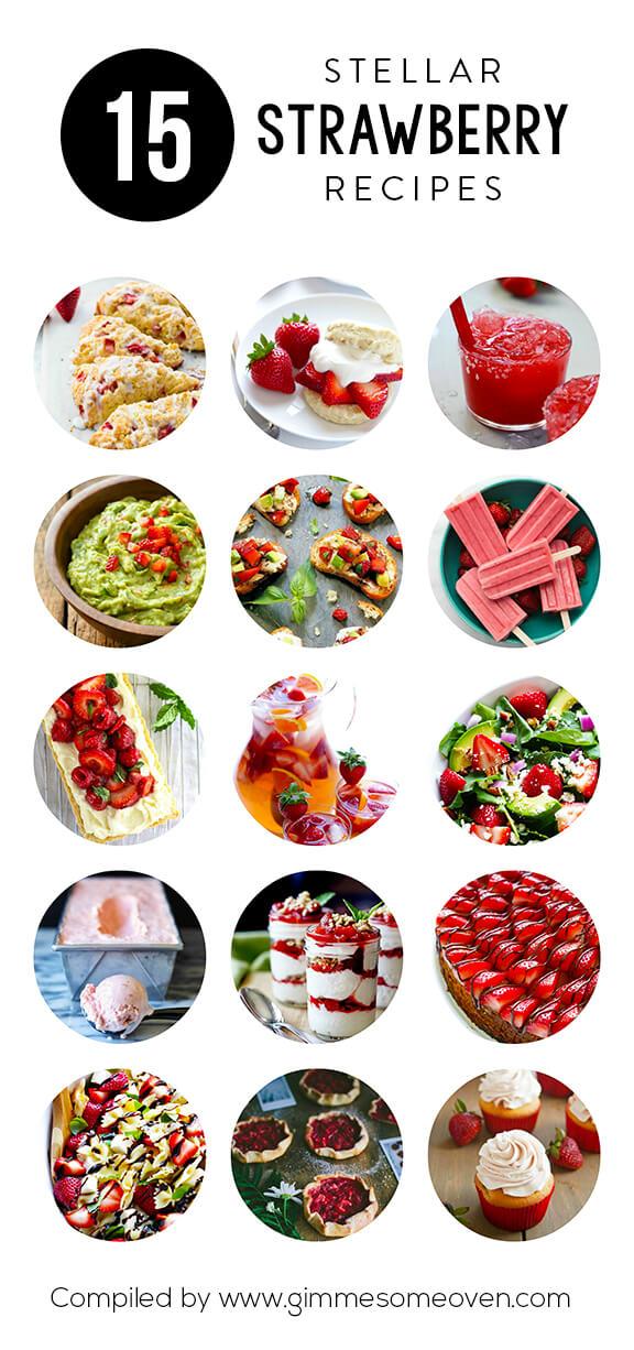 15 Strawberry Recipes   gimmesomeoven.com