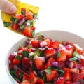 5-Ingredient Strawberry Salsa | gimmesomeoven.com