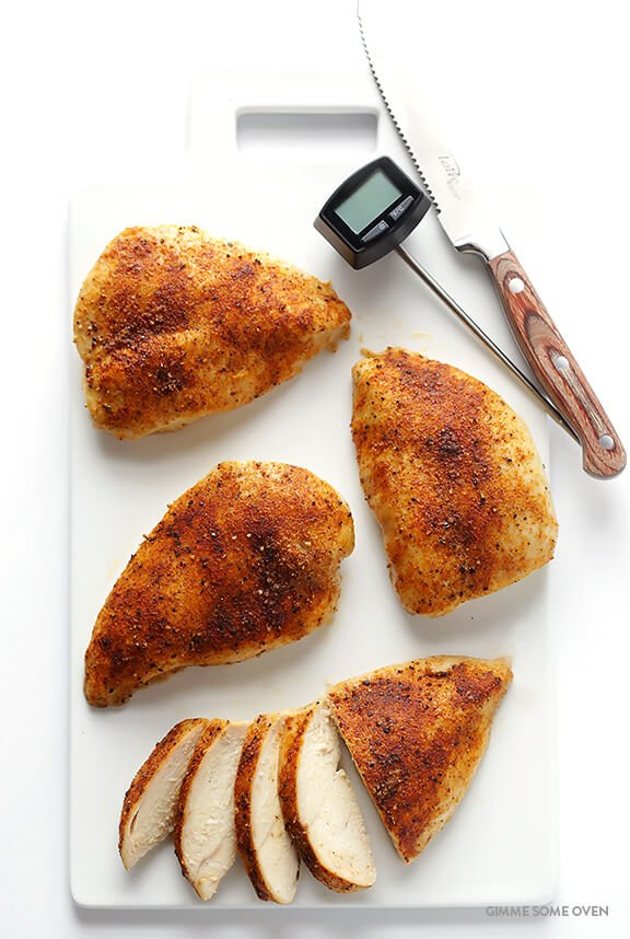 · Think of this method as a cross between braising and roasting. The chicken bastes in its own juices and the result is tender, juicy chicken breasts that are succulent and never dry.5/5(6).