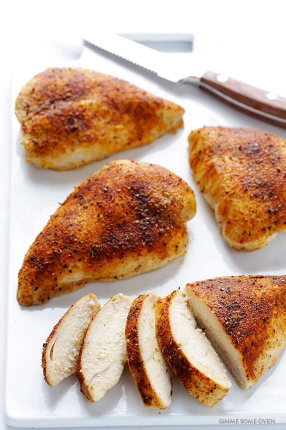 Broiling boneless chicken breast