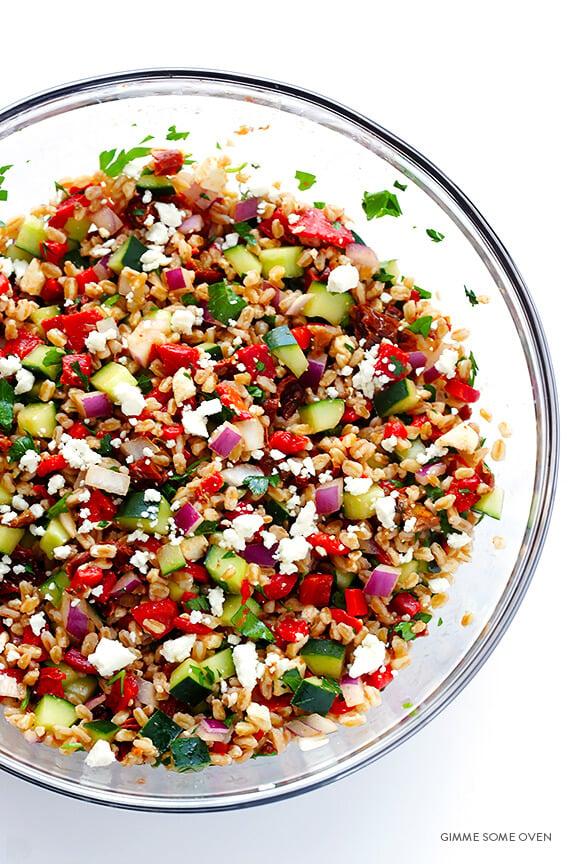 Mediterranean Farro Salad Gimme Some Oven