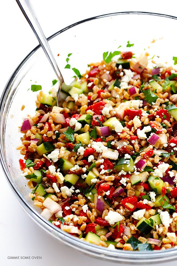 Farro Salad Recipe — Dishmaps