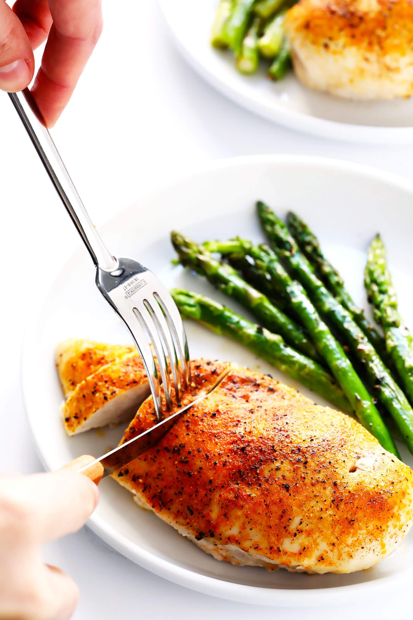 Baked Chicken Breast with Roasted Asparagus