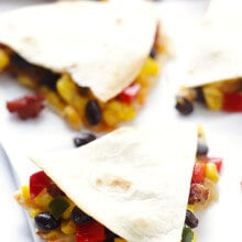 Southwestern Breakfast Quesadillas | gimmesomeoven.com