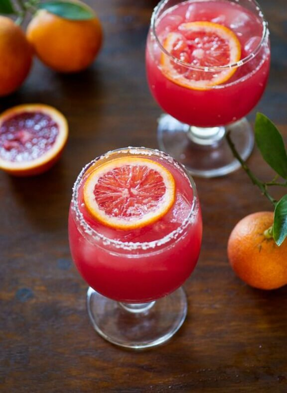 Blood Orange Margarita with Bitters | whiteonricecouple.com