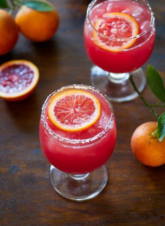 Blood Orange Margarita with Bitters | whiteonricecouple.com